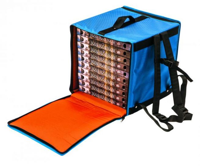 GI-Metal Rigid thermal backpack for up to ten 33cm pizza boxes
