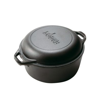 Lodge 5 Quart (4.73Ltr) Dutch Oven & Skillet - Loop Handles