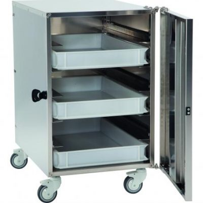 GI-Metal 6 Shelf Stainless Steel Cabinet Trolley