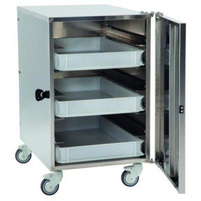 GI-Metal 6 Shelf Stainless Steel Cabinet Trolley