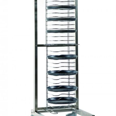 GI-Metal Stainless Steel Pizza Cart for 20 Round Pans
